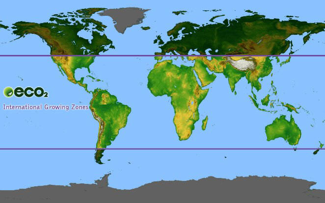 Eco International - Us growing zones map